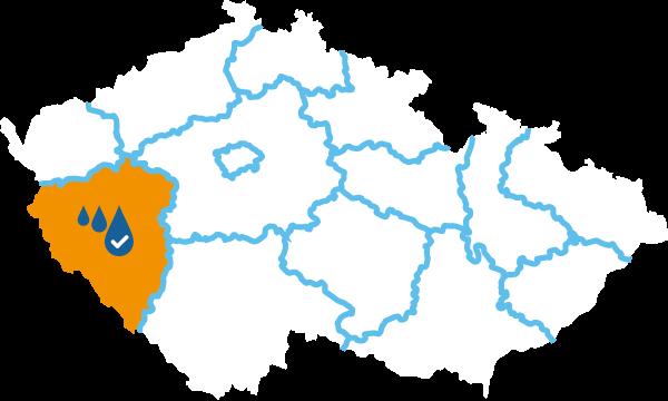 Čištění studní Plzeň mapa
